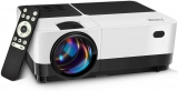 """Projector, 1080P and 176"""" Display Outdoor Video Projector Supported, 5500Lumen Portable HD Movie Projector with 50,000 Hrs LED Lamp Life, Compatible with TV Stick, PS4, HDMI, VGA, TF, AV and USB"""