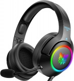 ONIKUMA Gaming Headset for PC,PS4,Xbox one,Noise Canceling Gaming Headphone with Microphone and Surround Sound, RGB LED Light