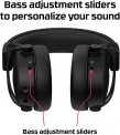 HyperX Cloud Alpha S – PC Gaming Headset, 7.1 Surround Sound, Adjustable Bass, Dual Chamber Drivers, Breathable Leatherette, Memory Foam, and Noise Cancelling Microphone